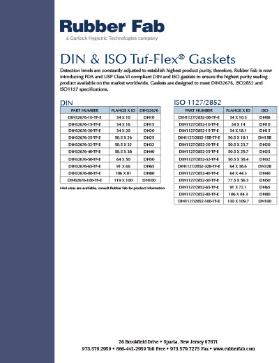 Specialty Gasket Part Numbers