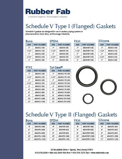 Schedule V Flanged Gaskets
