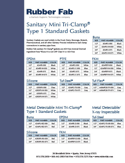 Tri-Clamp® Mini Gaskets