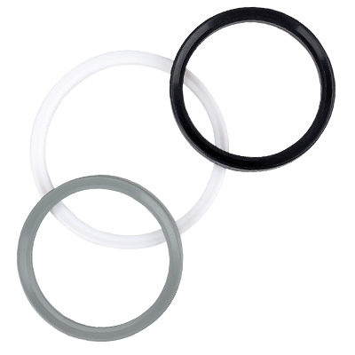 Group of Black, white and gray APC style gaskets