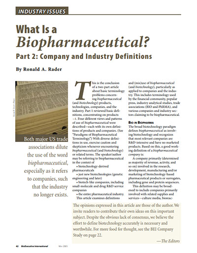What is a Biopharmaceutical Part 2