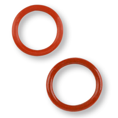 Two small red o-rings