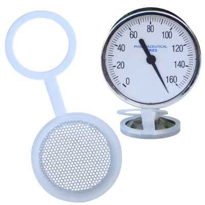 Stainless Steel perforated Silicone Gauge Guard Protector