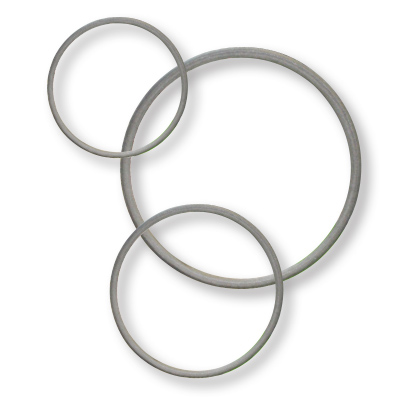Group of Gray Tuf-Steel o-rings in different sizes