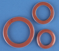 Red FEP Encapsulated camlock gaskets