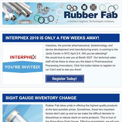 Rubber Fab eNewsletter Archive