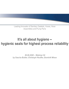 Hygienic Seals for Highest Process Reliability